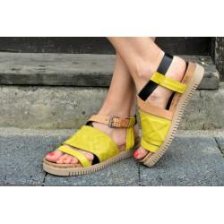 žluté kožené sandály INDIGO SHOES 1988