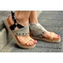 stříbrné kožené sandály INDIGO SHOES 1989