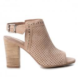 béžové (nude) kožené sandály Carmela 66681
