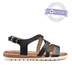 černé sandálky s vyměkčenou stélkou TENDENZ TBS19-034