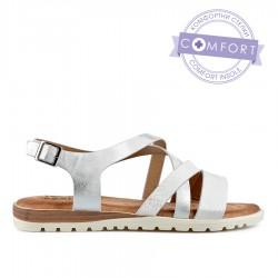 perlově bílé sandálky s vyměkčenou stélkou TENDENZ TBS19-034