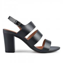 černé elegantní sandálky na širokém podpatku Tendenz CRS19-032