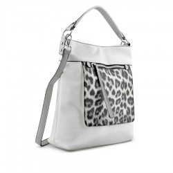 bílá kabelka s leopardím vzorem TENDENZ FFS19-045