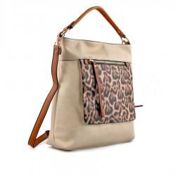 béžová kabelka s leopardím vzorem TENDENZ FFS19-045
