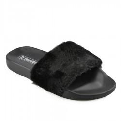 černé pantofle TENDENZ FLS19-001