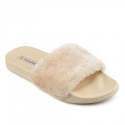 béžové pantofle TENDENZ FLS19-001