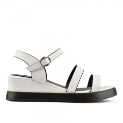 bílé sandály na klínu TENDENZ TYS19-013