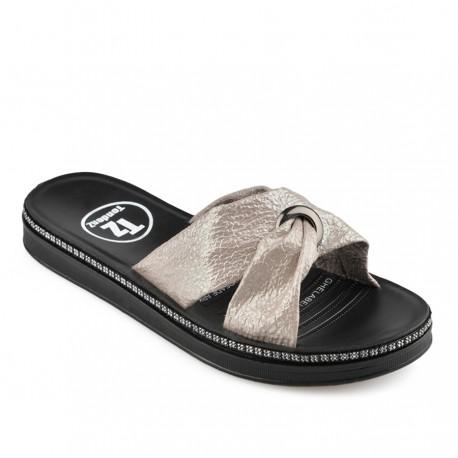 béžové pantofle Tendenz TYS19-024
