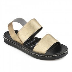 zlaté gumičkové sandálky TENDENZ TYS19-028