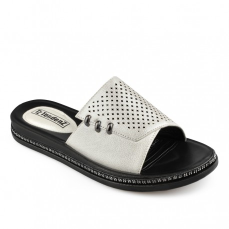 perlově bílé pantofle Tendenz TYS19-036