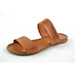 hnědé kožené pantofle BARI KIRA29