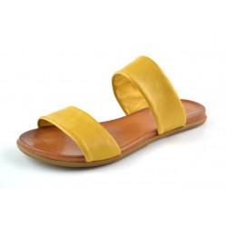 žluté kožené pantofle BARI KIRA29