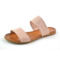 světle růžové kožené pantofle BARI KIRA29