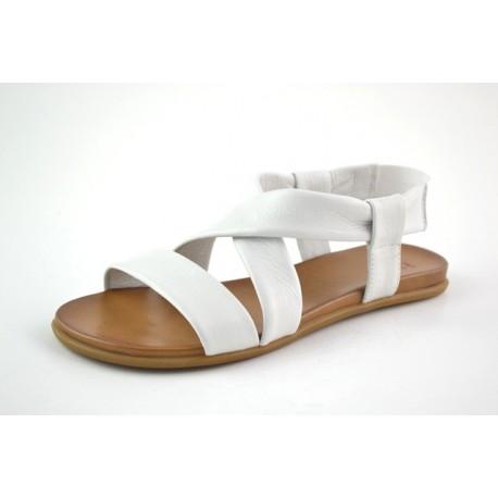 bílé kožené sandály na gumičky BARI KIRA21