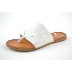 bílé kožené žabky na gumičku BARI KIRA35