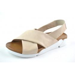 béžové kožené sandály na gumičku BARI DEAH03