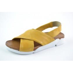 žluté kožené sandály na gumičku BARI DEAH03