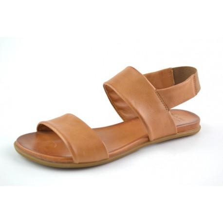 hnědé kožené sandály na gumičku BARI KIRA63