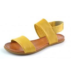 žluté kožené sandály na gumičku BARI KIRA63