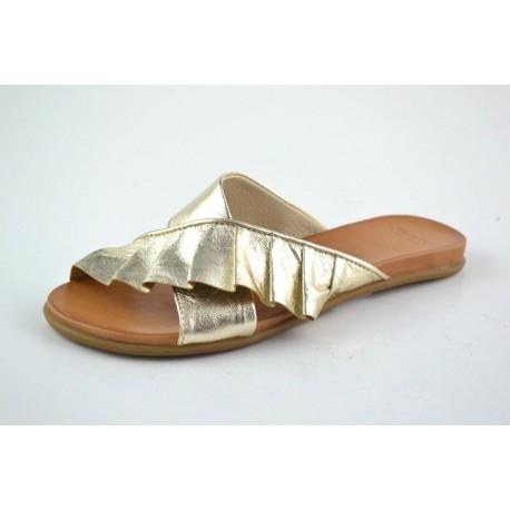 zlaté kožené pantofle BARI KIRA58
