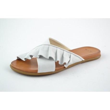 bílé kožené pantofle BARI KIRA58