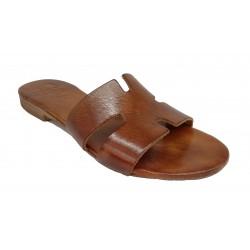 hnědé kožené italské pantofle SILCO  E45-49