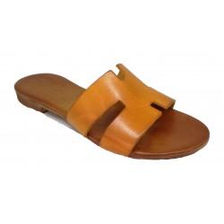 žluté kožené italské pantofle SILCO E45-49
