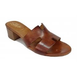 hnědé kožené italské pantofle SILCO  E45-482
