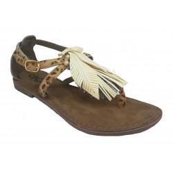 leopardí kožené italské sandálky ONCE IF-7102