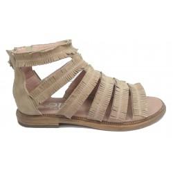 béžové kožené sandály INDIGO SHOES 1954