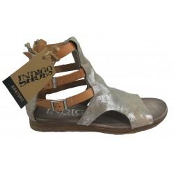 stříbrné kožené sandály INDIGO SHOES 1870