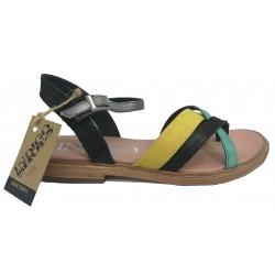 barevné kožené sandály INDIGO SHOES 15102