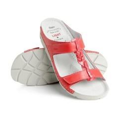 zdravotní červené kožené pantofle BATZ Bori