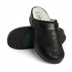 zdravotní černé kožené pantofle BATZ Elena