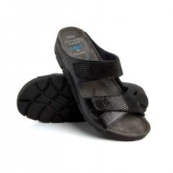 zdravotní černé kožené pantofle BATZ Emilia
