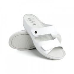 zdravotní bílé kožené pantofle BATZ FC06