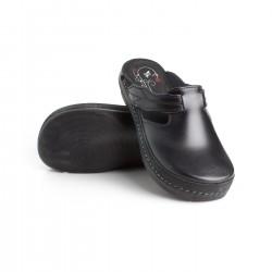 zdravotní černé kožené pantofle BATZ Flower