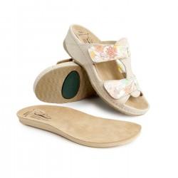 zdravotní béžovo-barevné kožené pantofle BATZ Imola