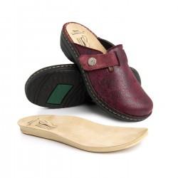 zdravotní bordó kožené pantofle BATZ Irene2