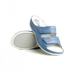 zdravotní modré kožené pantofle BATZ Lia