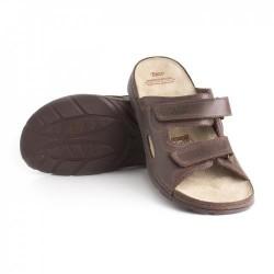 zdravotní hnědé pánské kožené pantofle BATZ Mike