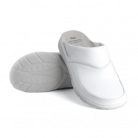 zdravotní bílé pánské kožené pantofle BATZ Peter