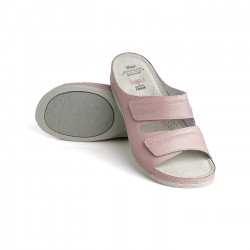 zdravotní růžové kožené pantofle BATZ Rea