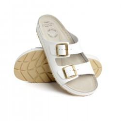zdravotní white kožené pantofle BATZ Zenna