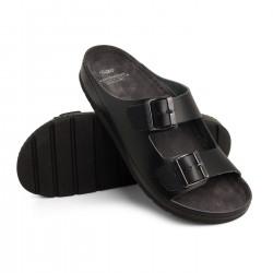 zdravotní černé pánské kožené pantofle BATZ Zeno