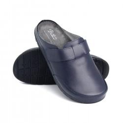zdravotní tmavě modré pánské kožené pantofle BATZ Zoltan