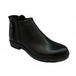 černá kožená kotníková obuv Once 414