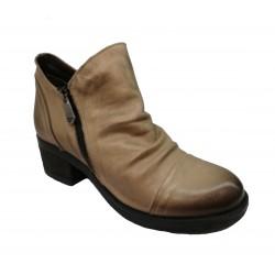 taupe kožená kotníková obuv Riccianera 016