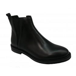 černá kožená kotníková obuv Riccianera 53R15