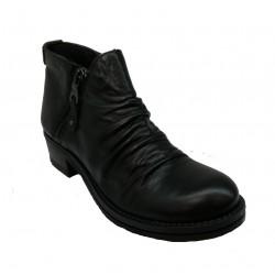 černá kožená kotníková obuv Made in italy 14